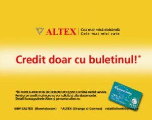Noul Credit doar cu buletinul Altex