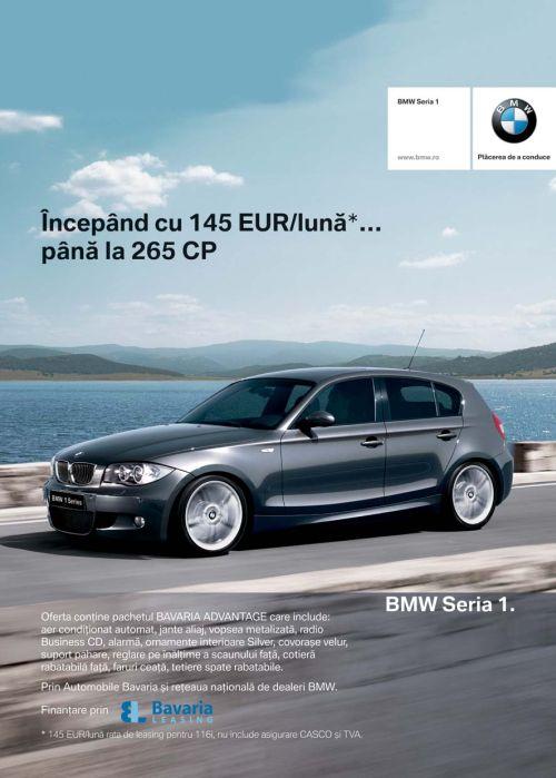 BTB Advertising promoveaza BMW Seria 1 de la Automobile Bavaria
