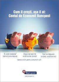 Bancpost are contul de economii la Scala JWT