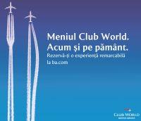 British Airways coboara din cer Meniul Club World. Acum si pe pamant