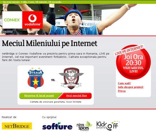 NetBridge transmite Meciul Mileniului in direct pe internet