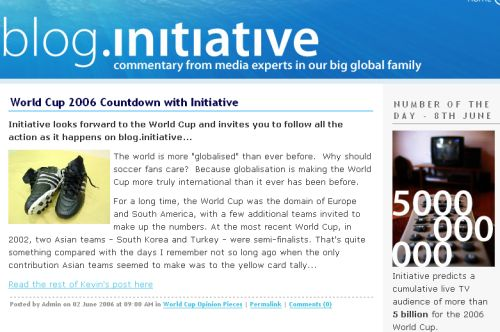 Initiative Worldwide are blog