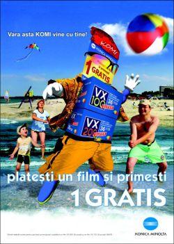 Konica Minolta investeste cu incredere in publicitate pentru film