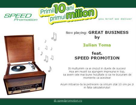 Speed Promotion vrea 1,5 Mil. EUR