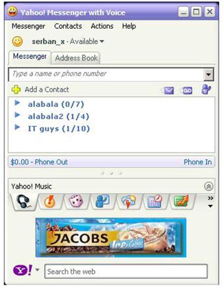 Starcom intra pe Yahoo! messenger cu Jacobs Ice Coffee