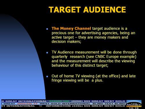 The Money Channel deschide televiziunea de business