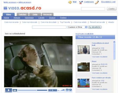 Publicitate video gratuita pe Acasa RO