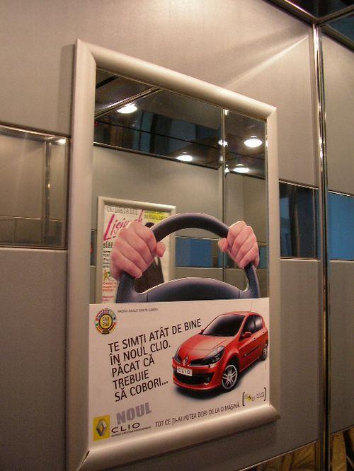 Publicitate de 20.000 EUR, cu toate lifturile va rog!