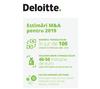 Deloitte: Estimata in 2018 la 3,8 si 4,3 miliarde de euro, piata de fuziuni si achizitii va insuma in 2019 in jur de 100 de tranzactii
