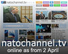 NATO Channel Tv, online din 2 aprilie