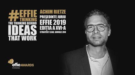 Lider Google ZOO, think tank de creatie Google, presedintele juriului Effie Awards Romania 2019