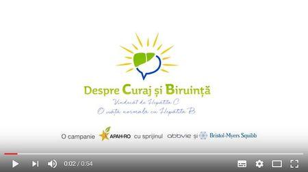 """600.000 de romani sufera de Hepatita C, iar 800.000 de Hepatita B. """"Despre Curaj si Biruinta"""" cu cei care au invins boala."""