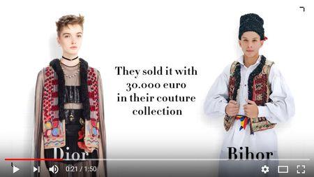 It's not Dior. It's Bihor. Marca traditionala romaneasca BihorCouture lupta impotriva plagiatului marilor case de moda