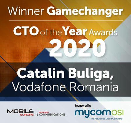 Catalin Buliga, Director de Tehnologie, Vodafone Romania este Mobile Europe & European Communications CTO of the Year Award 2020, categorie Gamechanger