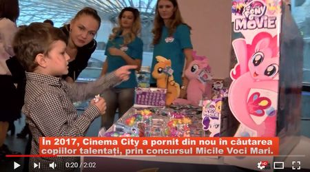 2 700 de voci de copii s-au intrecut pe doua locuri la concursul de dublaj Cinema City - Micile Voci Mari