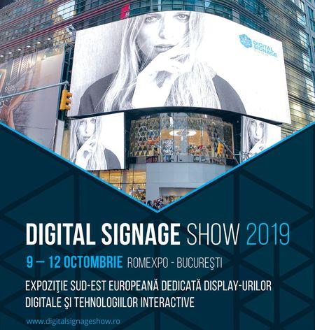 Cel mai important eveniment dedicat display-urilor digitale si tehnologiilor interactive in Romania la DIGITAL SIGNAGE Show