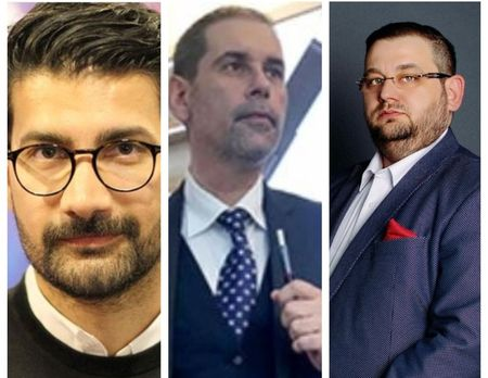 Dio Boaca (Phoenix Media), Alex Baker (Retail Tech X) si Eduard Dumitrascu (ARSCM) vorbesc la Conferinta Digital Signage despre valoarea brandului prin afisajul digital