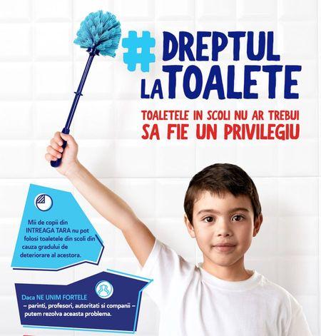Domestos si Crucea Rosie vor dota grupuri sanitare si vor moderniza toalete din scoli din Romania