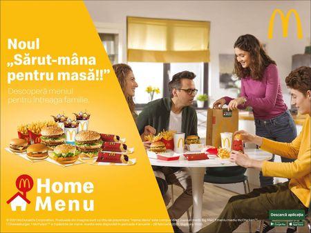 McDonald's si DDB Romania (The Group) lanseaza campania locala Home Menu – un meniu pe care nimeni nu il poate refuza
