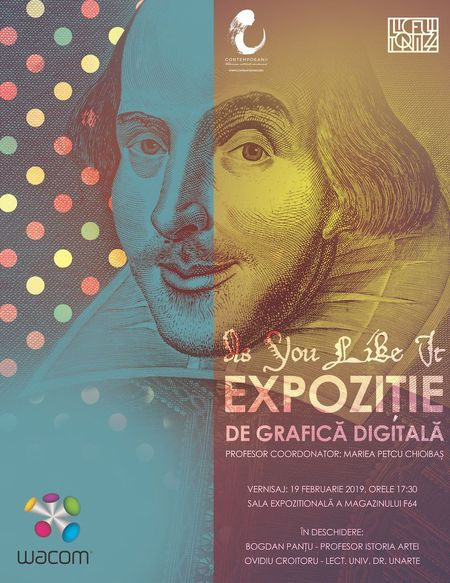 As You Like It. Expozitie de Grafica Digitala pe teme shakespeariene din 19 februarie la F64 din Bucuresti