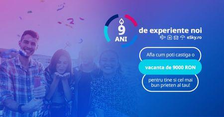 Campanie aniversara 9 ani eSky Romania cu premii de 9.000 de lei