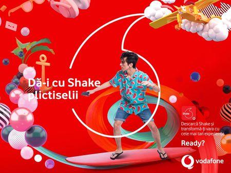 Vodafone Shake transforma distractia. Utilizatorii sub 27 de ani, indiferent de retea, au sansa de a castiga zeci de mii de premii