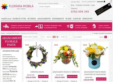 Aranjamente florale cu tematica pascala de la FlorariaMobila.ro