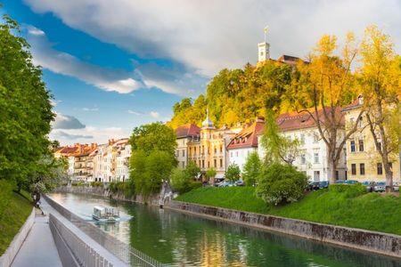 Portoroz se muta la Ljubljana. Publicitate la castel.