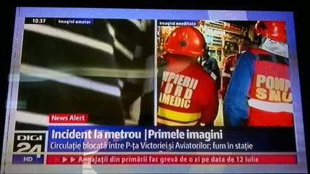 """Fum si sute de calatori evacuati la Metrou. Tremura si """"firmele de publicitate"""" indicate de Metrorex?"""