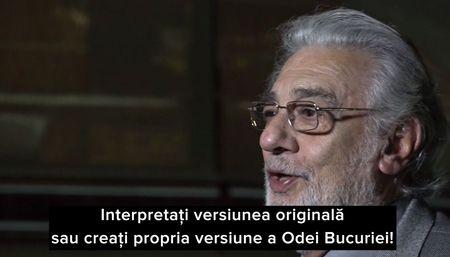 De Ziua Europei, Placido Domingo invita la Oda bucuriei in ritm de jazz - videoclip de promovare a patrimoniului national #Ode2Joy Challenge