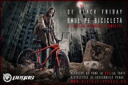 """Biciclete pe viata de Black Friday de la """"Omul pe bicicleta"""". Pegas 5 ani cu 5 milioane de euro"""