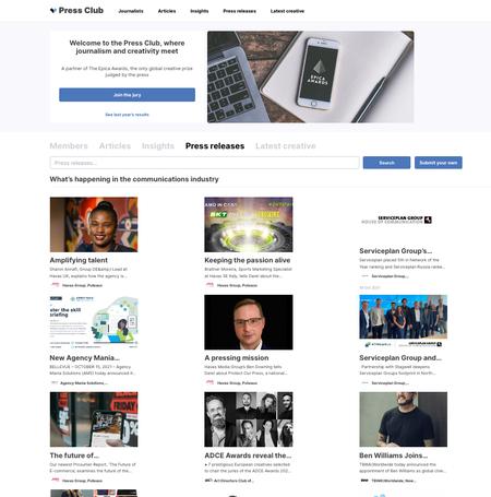 AdForum si Epica Awards lanseaza PRESS CLUB. Noua platforma unde se intalnesc creativitatea si jurnalismul de marketing si comunicare