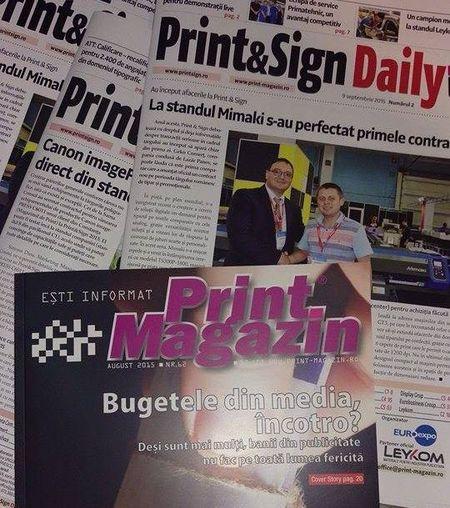 Cotidian de targ tiparit in 800-1.000 exemplare. Lunarul Print Magazin face Print & Sign Daily.