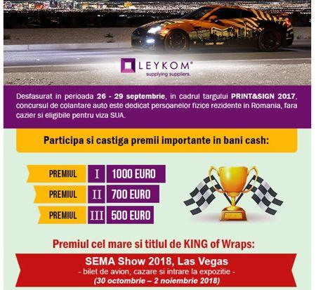 Premii de 2.200 euro in cash pentru cele mai bune colantari si o participare la Sema Show, Las Vegas
