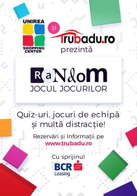 Hub-ul de entertainment on the go Trubadu.ro lanseaza Random, in parteneriat cu Unirea si BCR