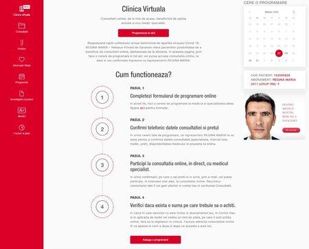 Reteaua de sanatate REGINA MARIA lanseaza platforma de consultatii online Clinica Virtuala