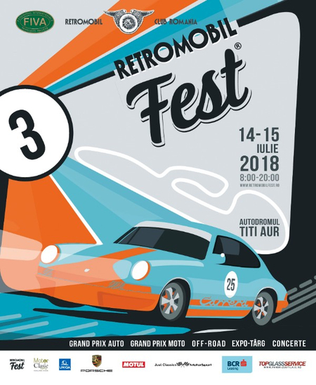 Retromobil Fest 2018, sustinut de BCR Leasing, Porsche Interauto, Uniqa, Motul si Top Glass