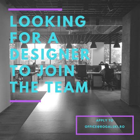 Web Designer Wanted. Job la Rogalski Damaschin.