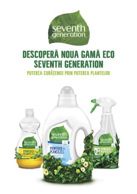 Unilever lanseaza in Romania un brand de ingrijire a gospodariei cu o filosofie green. Campania Seventh Generation, cu Mindshare si Image PR