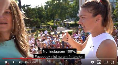 """Simona Halep sta 100% pe Instagram. ,,Facebook nici nu am in telefon"""" spune campioana de la Wimbledon in premiera in conferinta de presa cu instagrammeri InstaStories"""