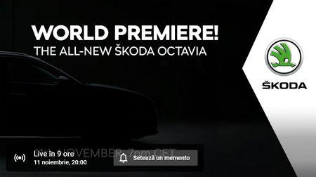 Live stream cu premiera mondiala a noii SKODA OCTAVIA
