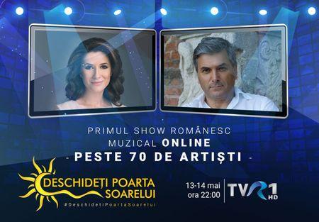 Primul show TV din Romania inregistrat online cu peste 70 de artisti care unesc generatii. Deschideti Poarta Soarelui, la TVR