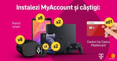 Telekom Romania premiaza utilizatorii aplicatiei MyAccount. Noua campanie pune la bataie o tombola cu premii.