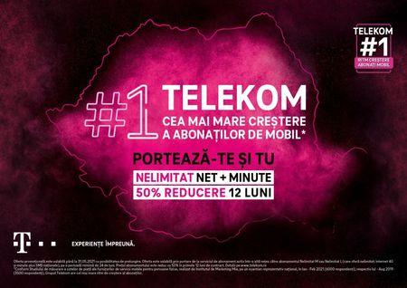 Cel mai mare ritm de crestere al abonatilor de mobil. Grupul Telekom Romania, in crestere cu 6.3%, pana la 1.65 milioane, mai multe contracte postpaid.