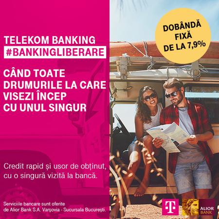 Noua oferta de creditare lansata de Telekom Banking. De la 70.000 lei la 150.000 si dobanda fixa de la 7,9% la creditele in lei