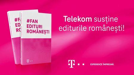 Telekom Romania lanseaza campania #FanEdituriRomanesti, prin care sustine editurile autohtone si incurajeaza lectura