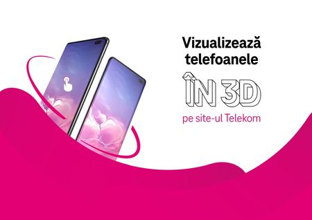 Previzualizarea in 3D a telefoanelor, in premiera, pe platfoma online Telekom Romania