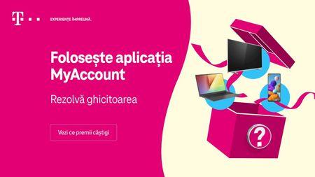 13 saptamani cu premii de mii de euro. Noua campanie MyAccount de la Telekom Romania, pentru clientii care utilizeaza aplicatia mobila.