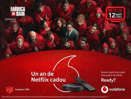 De Craciun, un an de Netflix. Campanie Vodafone ONE de Craciun cu 12 luni de Netflix cadou