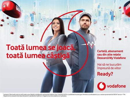 Vodafone in campanie de primavara. Doua Audi A5, 50 de premii de cate 1000 de euro, 100 smartphone-uri si milioane de premii in aplicatia My Vodafone
